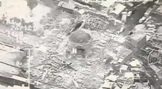 Shock, anger in Mosul after historic mosque destroyed