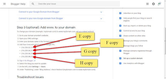 how to add custom domain to blogger godaddy hindi