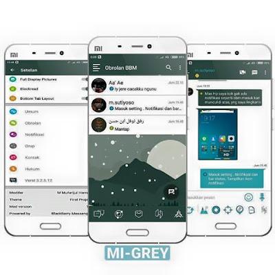 BBM Mod MI Grey V3.2.5.12 Apk Full Version