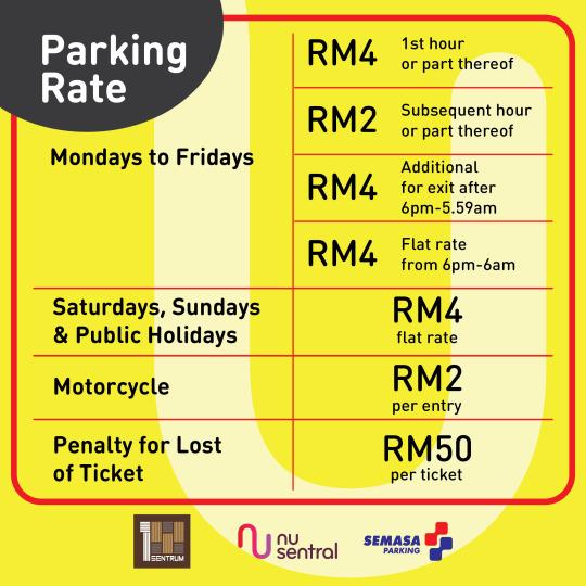 NU Hotel KL Sentral Parking Info
