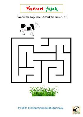 Mencari Jejak: Bantulah Sapi Menemukan Rumput!