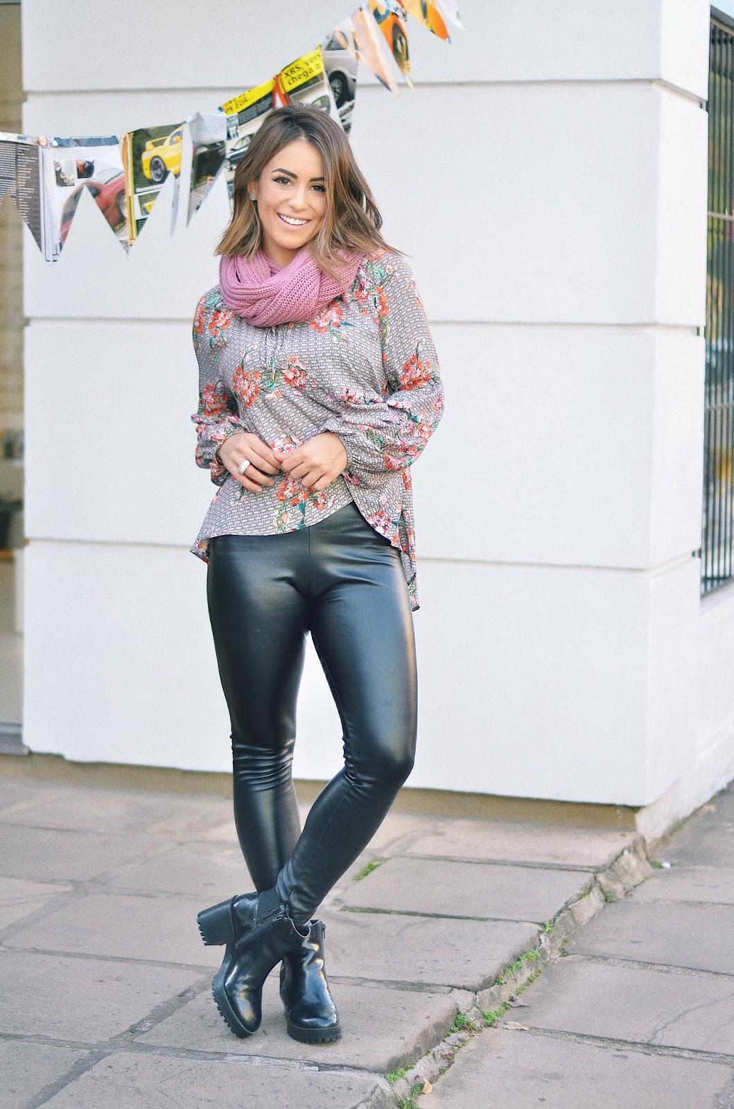 Look inverno calça de couro.