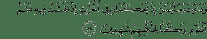 Surat Al Anbiya Ayat 78