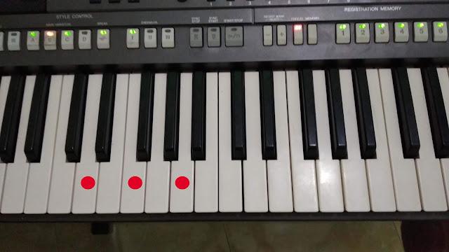 Belajar Chord Piano Nada Dasar C Mayor