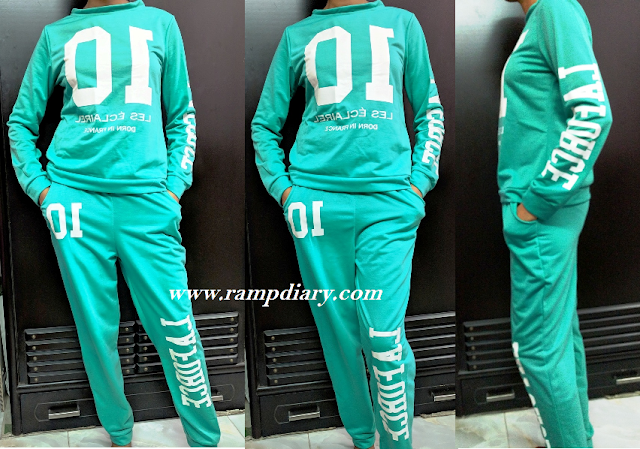 Green jogging sweat shirt and pant