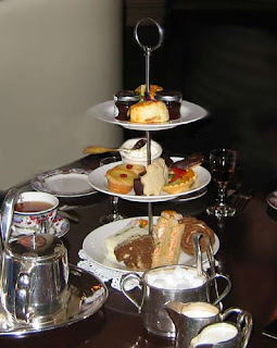 Three Tiers of Tea Time Treats.