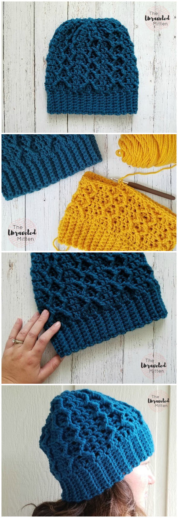 Honeycomb Cabled Beanie: Free Crochet Pattern