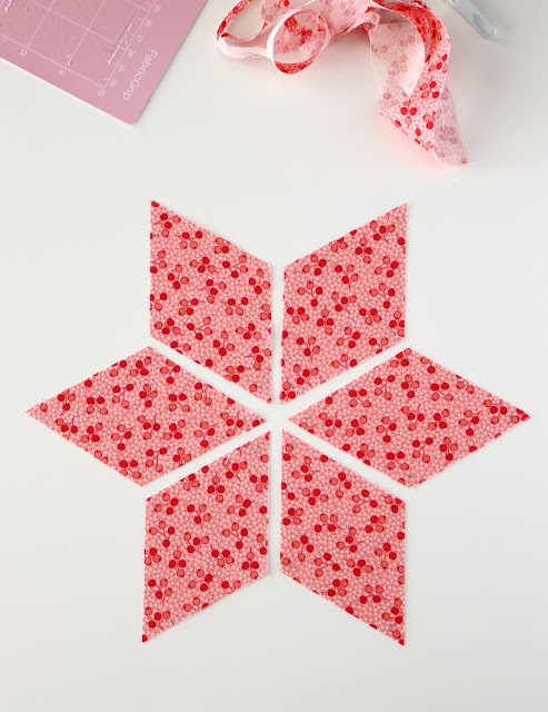 Making a six pointed star quilt with the Cricut Maker