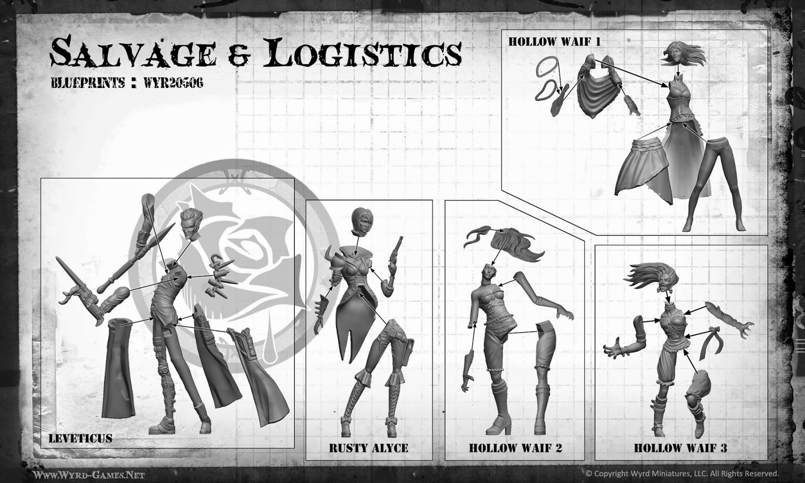 GMorts Chaotica: Malifaux 2nd Edition Assembly Instructions