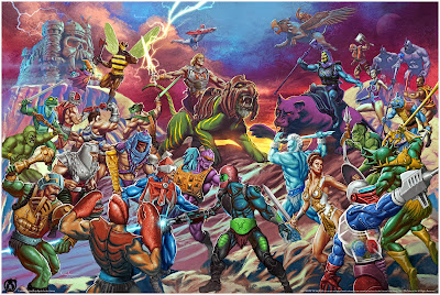 "He-Man and the Masters of the Universe ""The Battle for Grayskull"" Battle Armor Variant Giclee Print by Carlos Valenzuela x Mad Duck Posters"