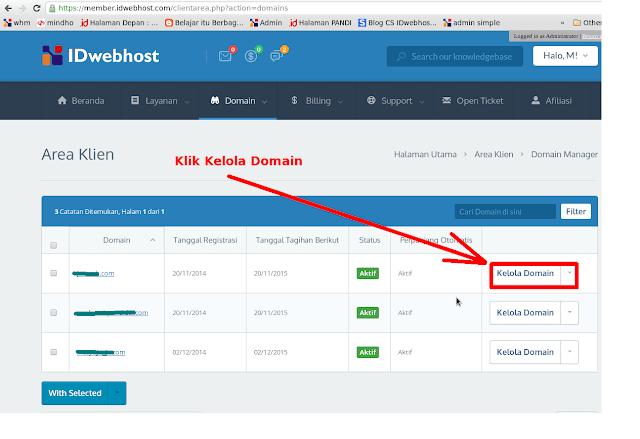 kelola domain idwebhost