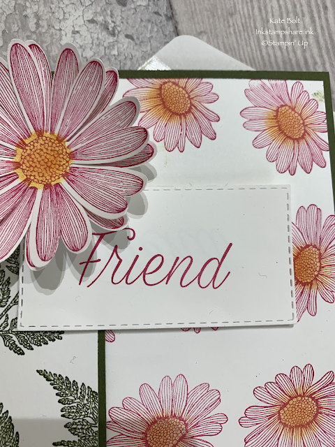 Daisy Lane Friend card. Stampin Up