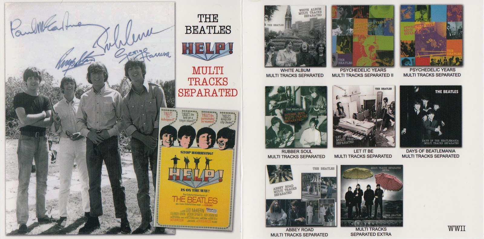 RELIQUARY: Beatles, The - Help! Multi Tracks Separated (WWII