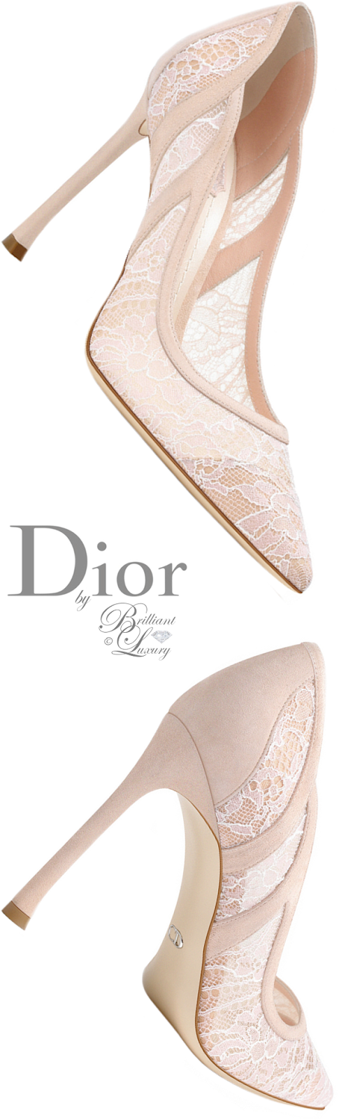 Brilliant Luxury ♦ Dior nude lace pump