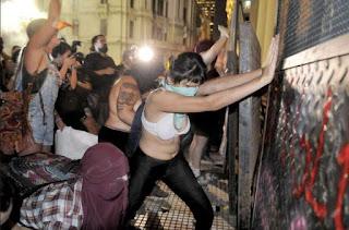 Violencia en la CABA por el día de la mujer