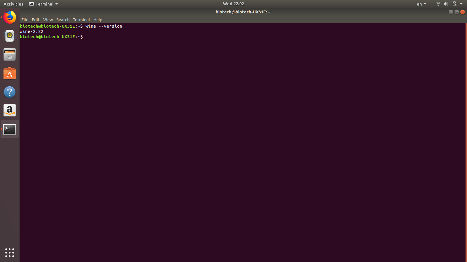 install wine without terminal