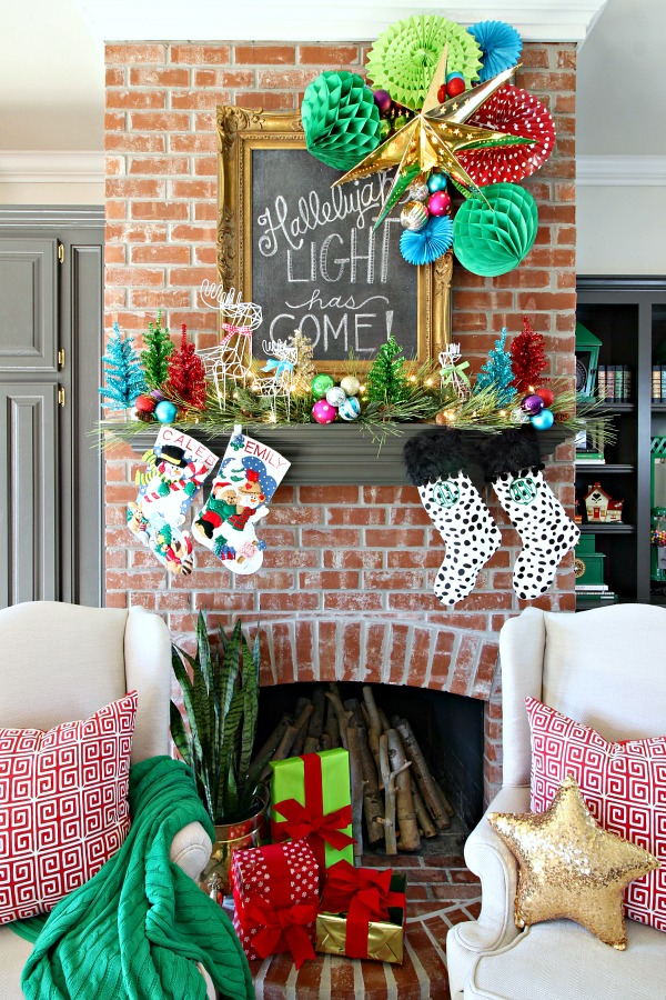 Christmas mantel new hall decor and diy faux sconces How to decorate your hallway for christmas