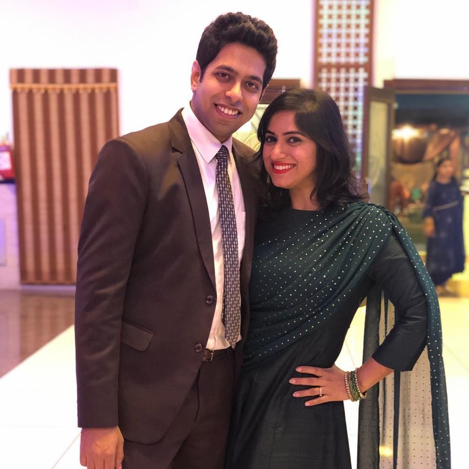 Himeesh Madaan With His Wife