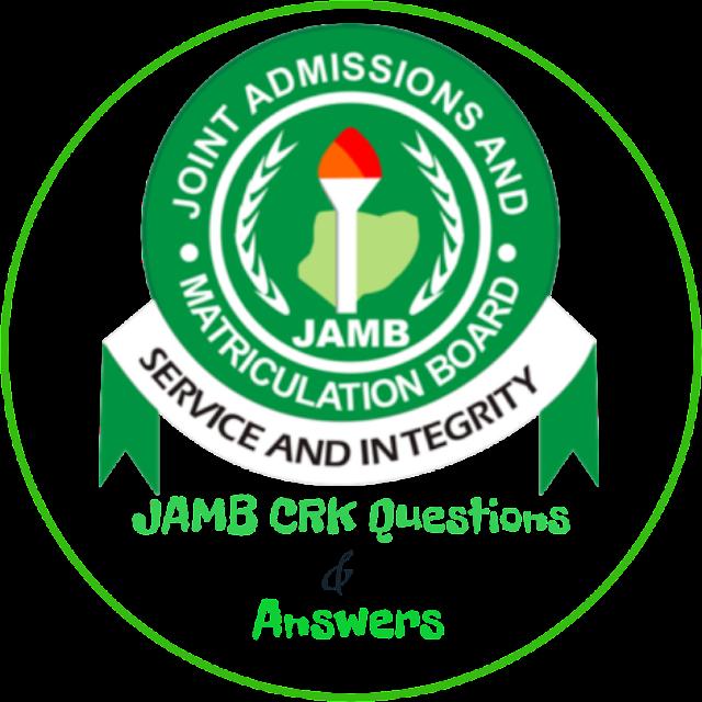 JAMB CRK Questions 2018