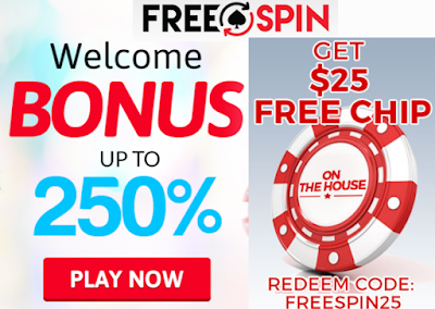 250% Welcome Match and $25 FREE | Freespin Casino