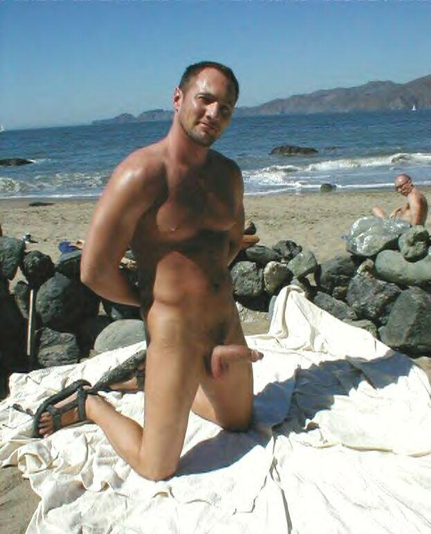 Talented Beach daddy naked love