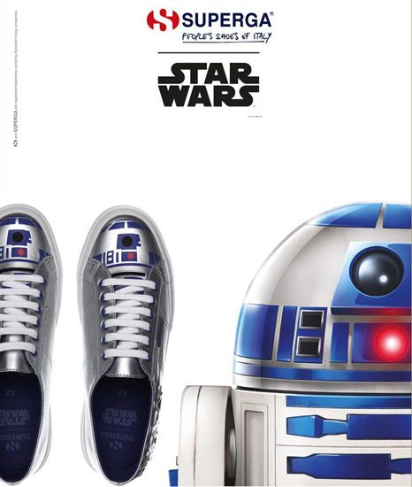 zapatillas R2D Superga star wars