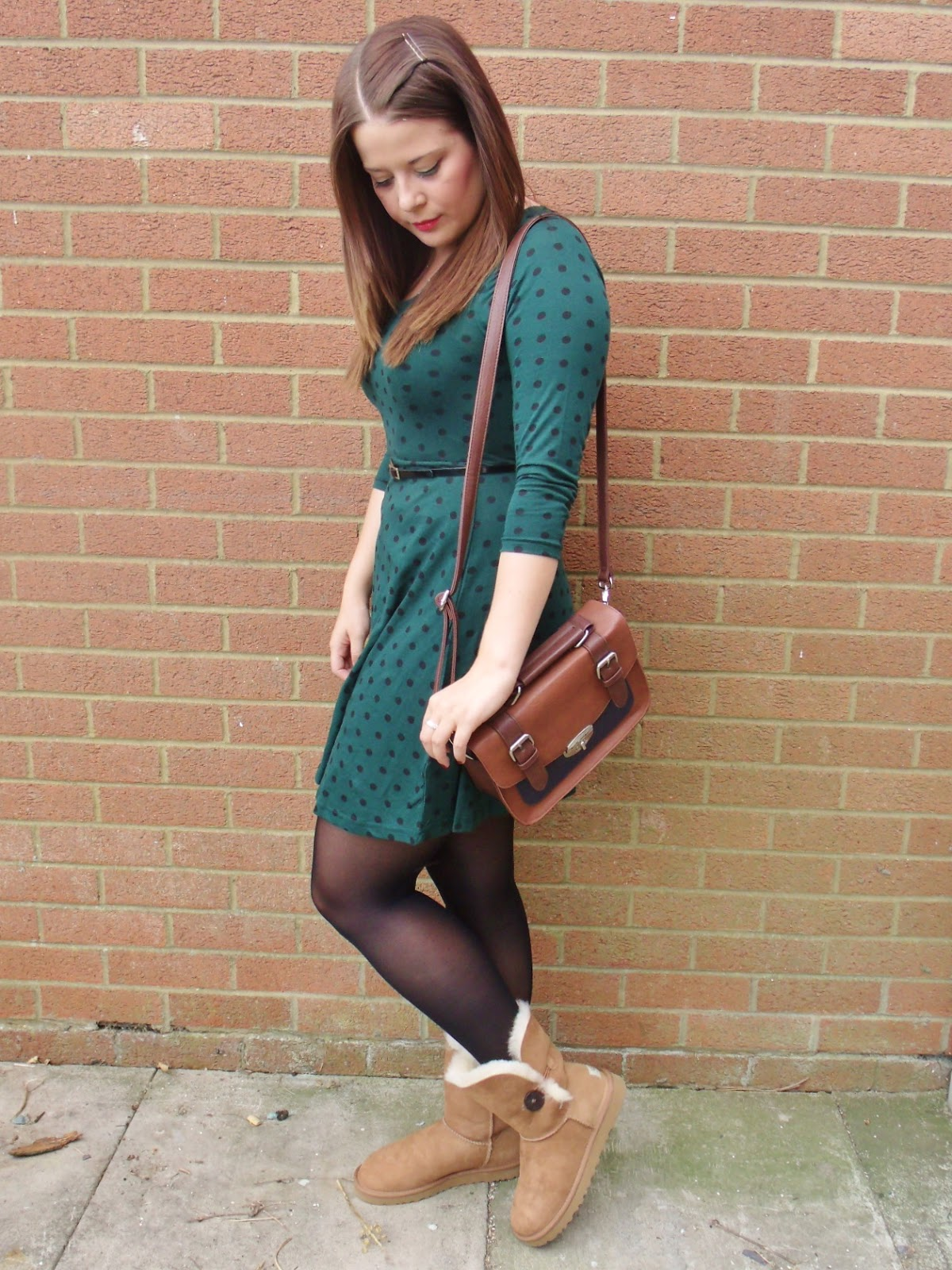 Autumn Fashion Ootd Featuring Ugg Bailey Button Boots
