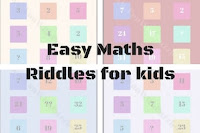 Easy Maths Riddles with answers for kids