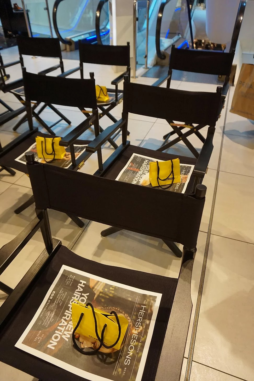 Chairs with Hershesons booklet Selfridges Birmingham