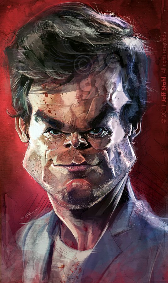 Michael C. Hall alias Dexter por Jeff Stahl