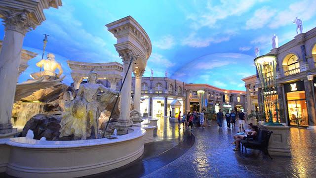 Forum Shops no Caesars Palace em Las Vegas