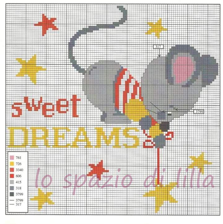 Lo spazio di lilla copertine per neonato con topolini a for Copertine punto croce bimbi schemi