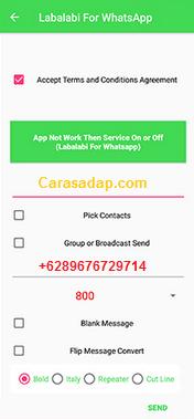 cara menggunakan labalabi for whatsapp apk