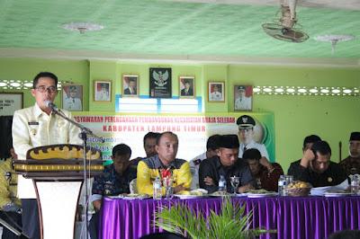 Wakil Bupati Lampung Timur Zaiful Bokhari Laksanakan Musrenbang Tingkat Kecamatan di Braja Selebah