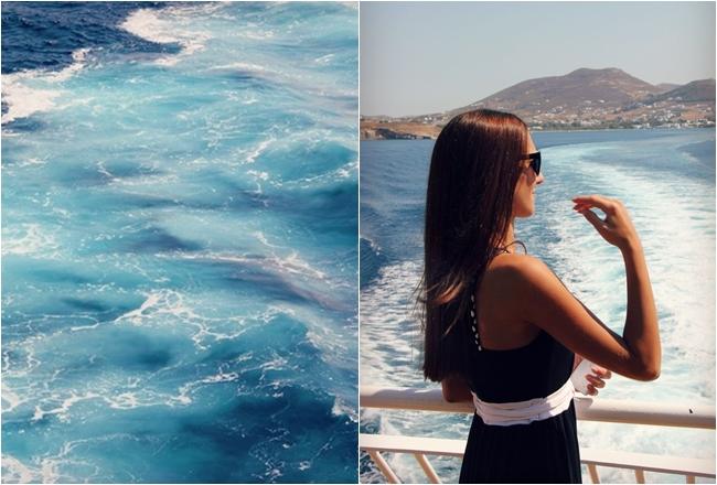 blue waters od Greek islands