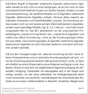 Le TAF casse la prohibition du vapotage nicotiné en Suisse