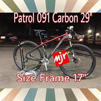 Sepeda mtb Patrol 091 carbon 29 inch bobot 9kg