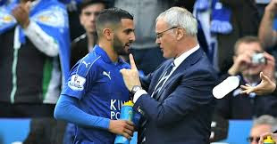 Claudio Ranieri and Mahrez