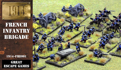 12mm 1914 French Infantry Brigade from Great Escape Games