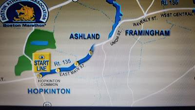 Image of a map for the opening segment of the Boston Marathon