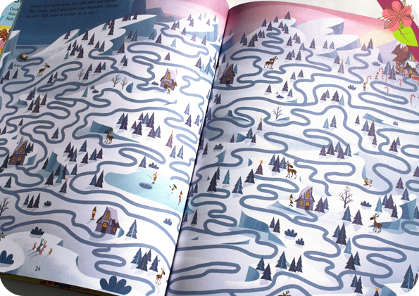 Le grand livre des labyrinthes Noël - éditions Usborne