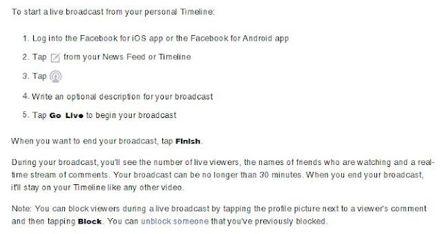 Cara Menggunakan Facebook Live - Video Broadcast