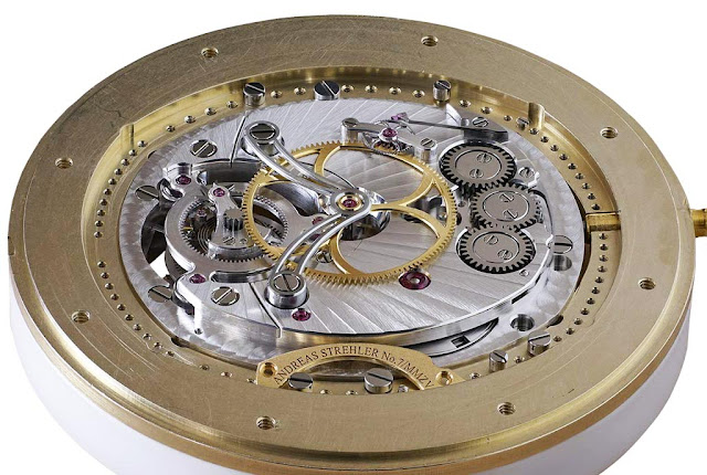 Andreas Strehler Trans-axial Remontoir Tourbillon, movement verso side