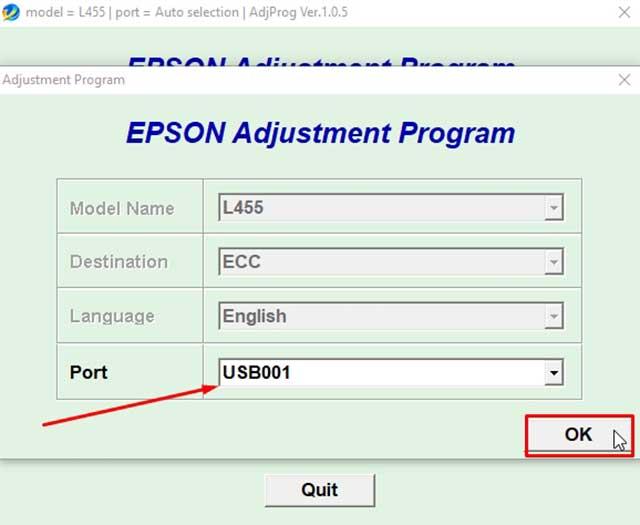 Descargar Reset Epson L455