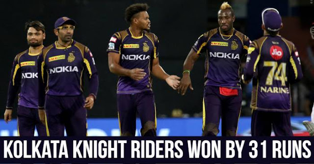 Kolkata Knight Riders won by 31 runs