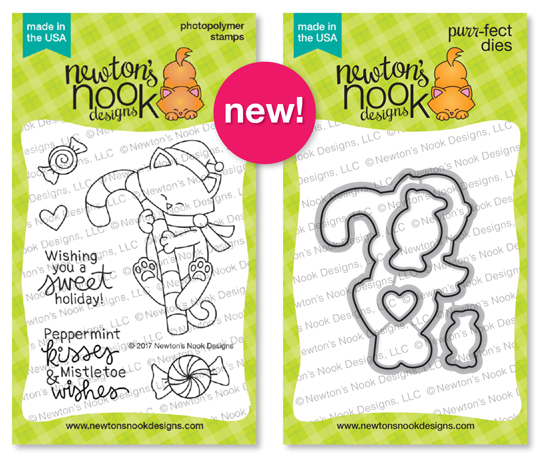 Newton's Candy Cane Stamp Set and Die Set by Newton's Nook Designs #newtonsnook