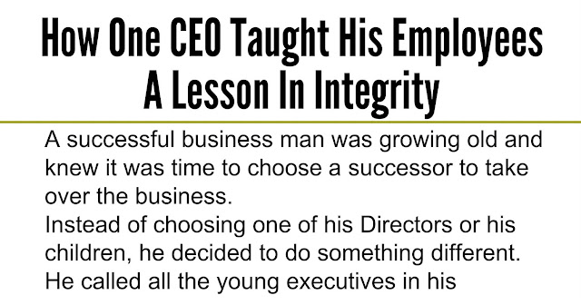 Beautiful quotes how one ceo taught his employees a lesson in integrity - Successful flower growing business ...