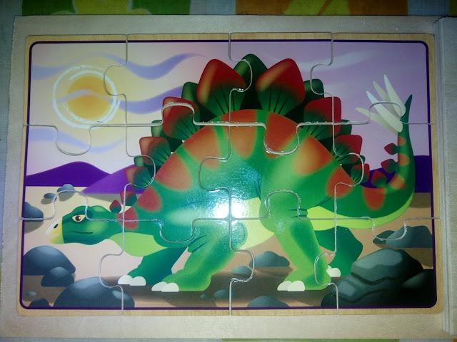 estegosaurio, puzzle de estegosaurio,