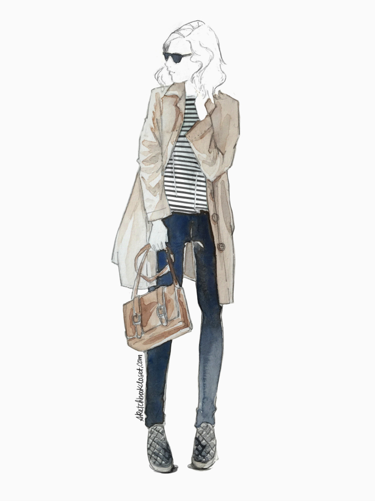 fashion illustration | Petite Maison of Fashion and Sketchbook Style collaboration