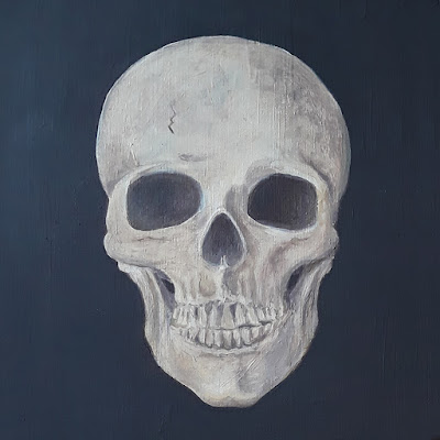 Skull painted using System 3 Acrylic paints